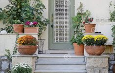 House Entrance Stairs Design Awesome Elegant House Entrance With Lots Flower Pots Athens