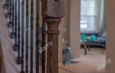 House Entrance Stairs Design New Staircase Wooden Banister Interior Design Detail Close House