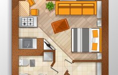 House Top View Design Awesome Modern Studio Apartment Top View