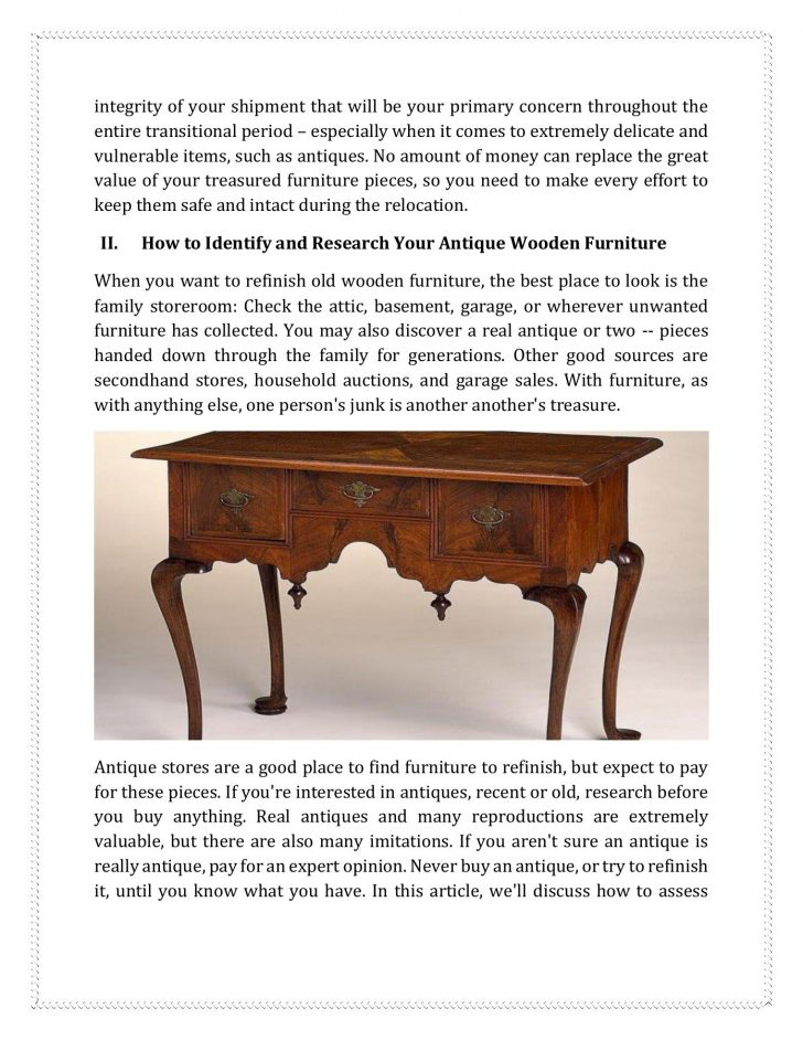 How to Sell Antique Furniture Online 2020
