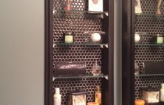 Medicine Cabinet Door Replacement Awesome Glass Shelving To Replace Medicine Cabinet Black Hex Tile