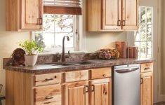 Menards Cabinet Doors Awesome Beautiful Hickory Cabinets For A Natural Looking Kitchen