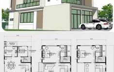 Modern Home Building Plans New Home Design Plan 8x20m With 6 Bedrooms