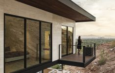 Modern House With View New Red Rock Mountainside Modern House City View Phoenix Arizona 15