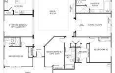 One Level House Plans With Garage Awesome Love This Layout With Extra Rooms Single Story Floor Plans