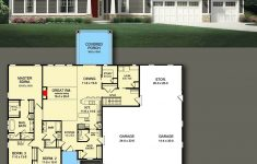 One Level House Plans With Porch Lovely Plan Glv E Story Craftsman House Plan With 3 Car