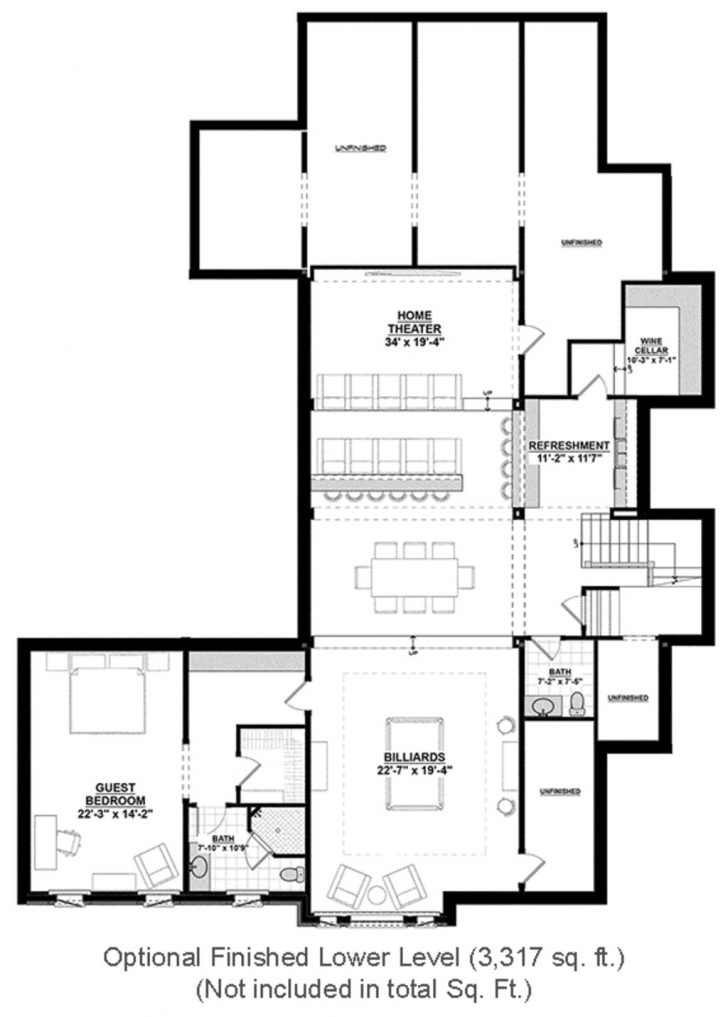 One Story House Plans with Finished Basement 2020