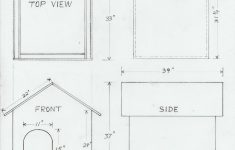 Plans For Dog Houses Beautiful Dog House Drawing And Materials List
