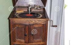 Record Player Furniture Antique Fresh Antique Record Player Placed Before White Curtains Stock