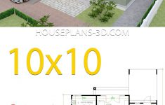 Roof Plans For House Inspirational House Design 10x10 With 3 Bedrooms Hip Roof House Plans 3d