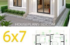 Simple House Design Images Best Of Simple House Plans 6×7 with 2 Bedrooms Hip Roof In 2020