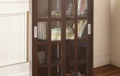Sliding Glass Door Cabinet Lovely The Lakeside Collection Sliding Door Media Cabinet Bookcase For Living Rooms Entryways Dark Walnut