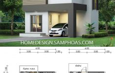 Small 2 Story House Design Unique Small House Plan 6x6 25m With 3 Bedrooms