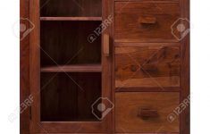 Small Cabinet With Glass Doors New This Walnut Cabinet With Glass Doors Is A Classic Style Furniture