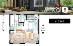 Small Houses Plans Cottage Fresh 2 Bedroom Transitional Style Cottage Design With Mezzanine