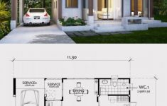 Small Modern Floor Plans Lovely Home Design Plan 11x8m With E Bedroom