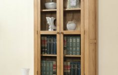 Tall Cabinet With Glass Doors Luxury Shrewsbury Oak Display Cabinet With Glass Doors