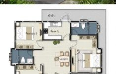 Three Bedroom House Blueprints Beautiful 3 Concepts Of 3 Bedroom Bungalow House In 2020