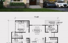 Three Bedroom House Blueprints Beautiful Home Design Plan 12x12m With 3 Bedrooms