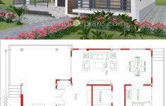 Three Bedroom House Blueprints New House Plans 10x13m With 3 Bedrooms In 2020