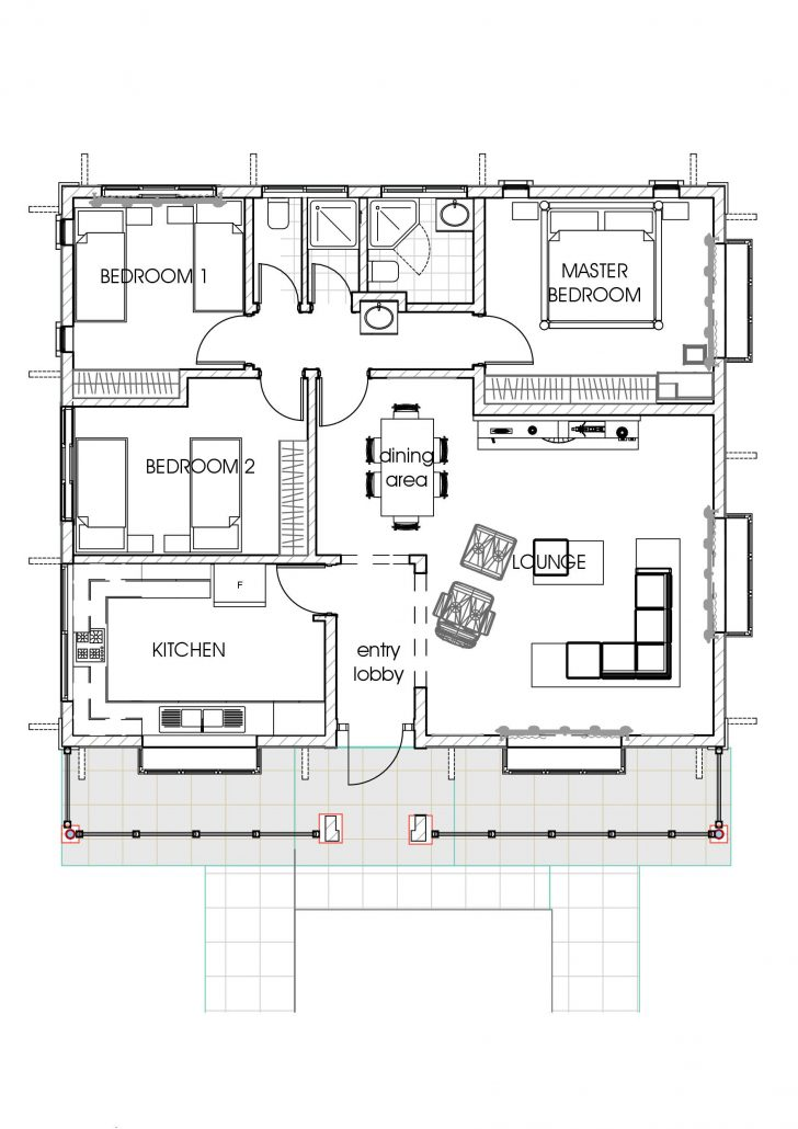 Three Bedroom House Floor Plans 2020