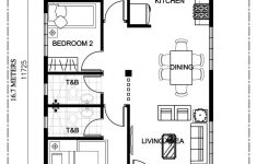 Three Bedroom House Floor Plans Elegant Simple 3 Bedroom Bungalow House Design