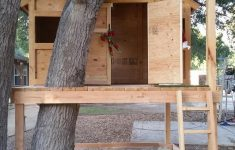 Tree House Plans Without A Tree New Treehouse Playhouse