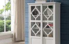 White Cabinet With Glass Doors Awesome White Wood Curio Bookcase Display Storage Cabinet With Glass Sliding Doors