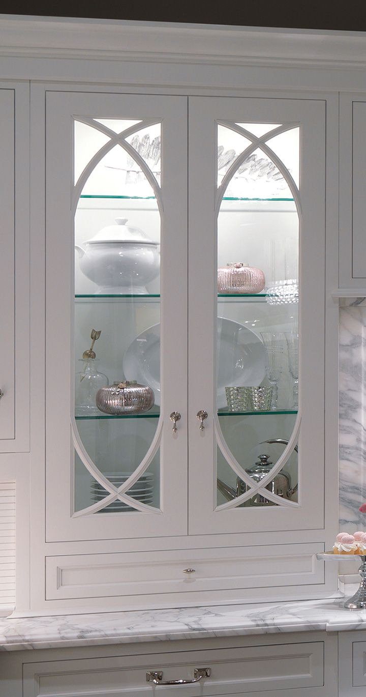 White Cabinet with Glass Doors 2020
