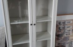 White Cabinet With Glass Doors Lovely White Ikea Display Cabinet Glass Doors 4 Shelves And Large Drawer Excellent Condition In Chesterfield Derbyshire