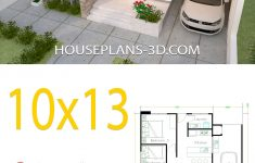 3d House Designs And Floor Plans Unique House Design 10x13 With 3 Bedrooms Full Plans With Images