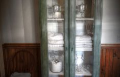 Accent Cabinet With Glass Doors New French Provincial Style Glass Door Accent Cabinet In Antique