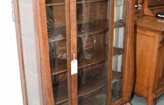 Antique Cabinets With Glass Doors Fresh Antique Quarter Cut Oak Empire Style Display Cabinet With Glass