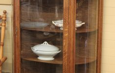 Antique Cabinets With Glass Doors Luxury When Should You Refinish An Antique … Two Oak Curved Glass