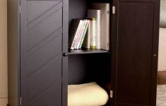 Black Storage Cabinet With Doors Fresh Black Storage Cabinet 2 Shelves Living Room Hallway Bedroom