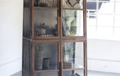 Bookshelf Cabinet With Doors Fresh Industrial Modern Glass Door Storage Cabinet Bookcase In