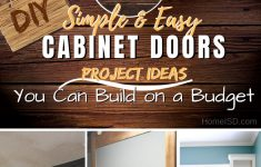 Cabinet Door Ideas Awesome 14 Easy Diy Cabinet Doors You Can Build On A Bud