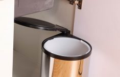 Cabinet Door Trash Can Lovely Fahrenheit Stainless Steel Integral Cabinet Household Rotary