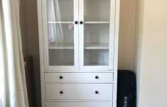 Cabinet With Drawers And Doors New Ikea Hemnes Glass Door Cabinet With 3 Drawers In Surbiton London