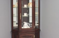 Corner Cabinet With Glass Doors Beautiful Hardwood Corner Curio Cabinet With Enclosed Base