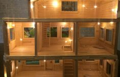 Doll House Plans Wood Beautiful Dollhouse Made Entirely From Popsicle Sticks