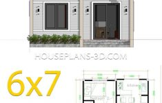 Free House Construction Plans Awesome Simple House Plans 6x7 With 2 Bedrooms Hip Roof In 2020