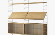 Glass Door Cabinets Best Of String Shelving Unit With Double Glass Door Cabinets Shelves And Wall Fastened Side Racks Oak White