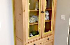 Hemnes Glass Door Cabinet Inspirational Two Toned Furniture Makeover For The Bathroom