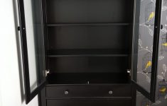 Hemnes Glass Door Cabinet New Black Brown Hemnes Glass Door Cabinet