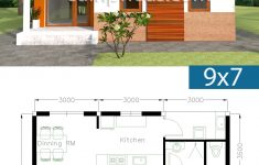 House Building Plans Free Download Unique House Plans 9x7m With 2 Bedrooms In 2020