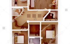 House Design Top View Fresh Plan View Apartment Clear 3d Interior Stock Illustration