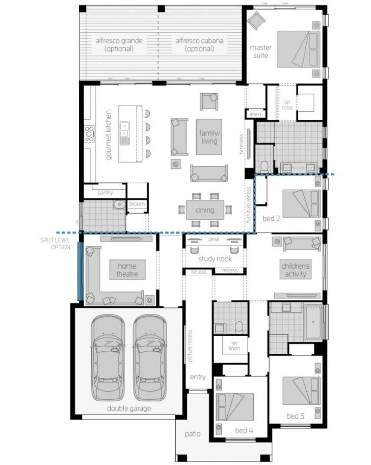 House Plans for One Story Homes 2020