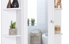 Medicine Cabinet Door Awesome Tangkula Bathroom Cabinet Single Door Wall Mount Medicine Cabinet With Mirror 2 Tier Inner Shelves