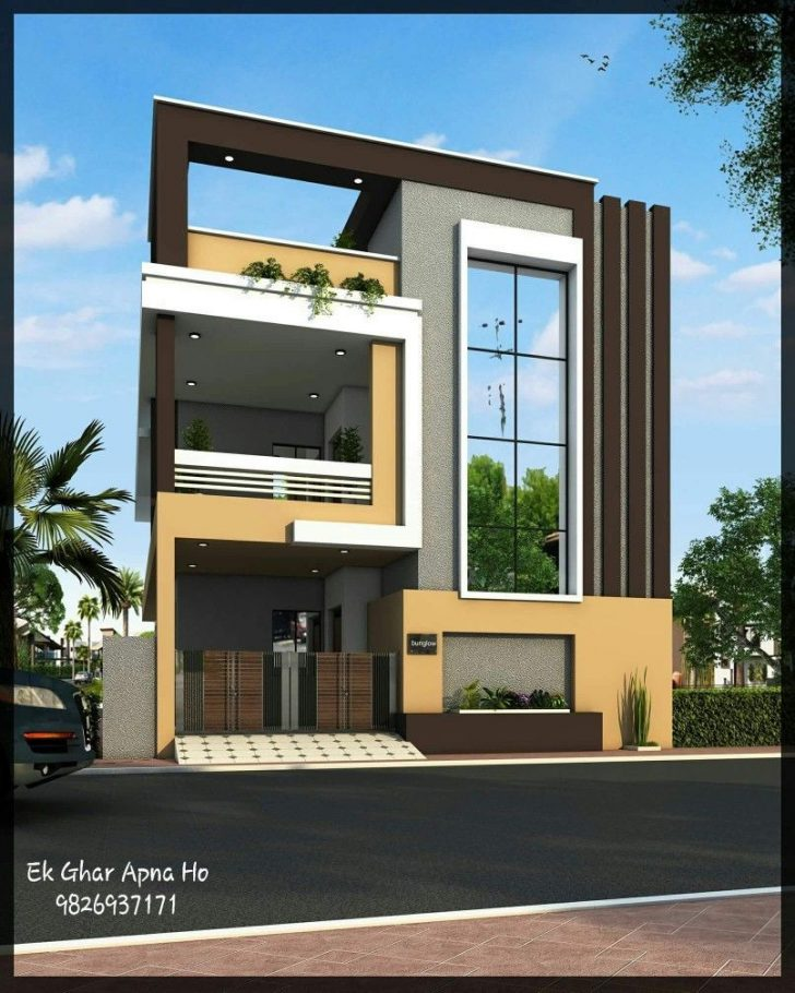 Modern House Front View 2020
